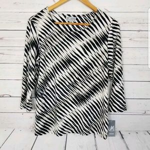 JM Collection Blouse Size Small